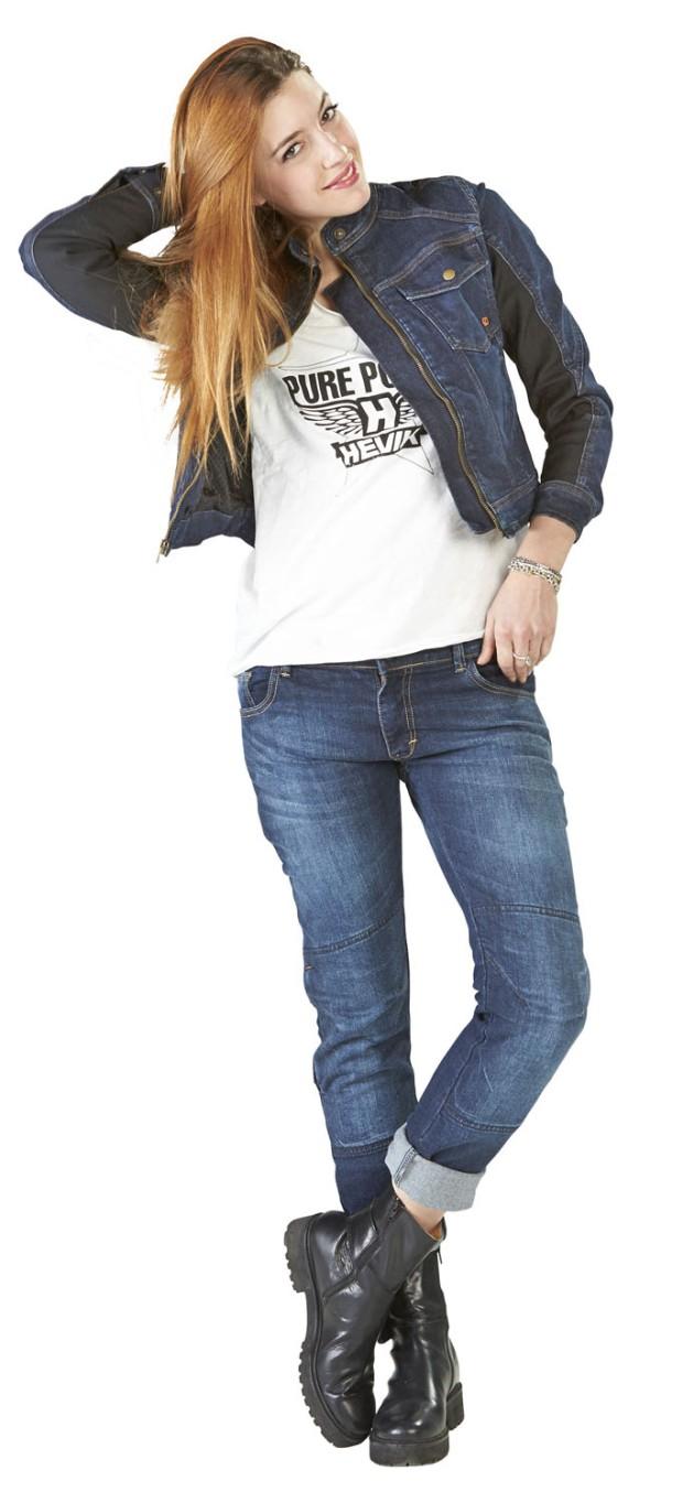 Hevik, giubbino GIULIA in jeans, 138 euro