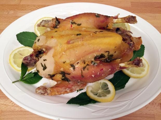 Pollo in crosta con menta e limone