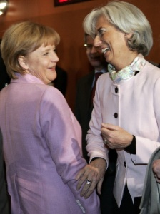 Angela Merkel e Christine Lagarde