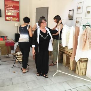 Fabrizia all'Atelier di out of fashion
