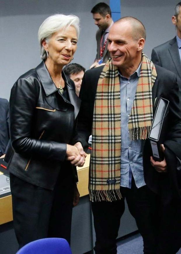 Lagarde e Varoufakis