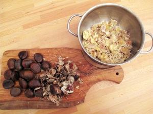 Budino di castagne e cioccolato fondente