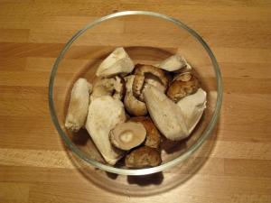 Vellutata di zucca con funghi porcini, i funghi