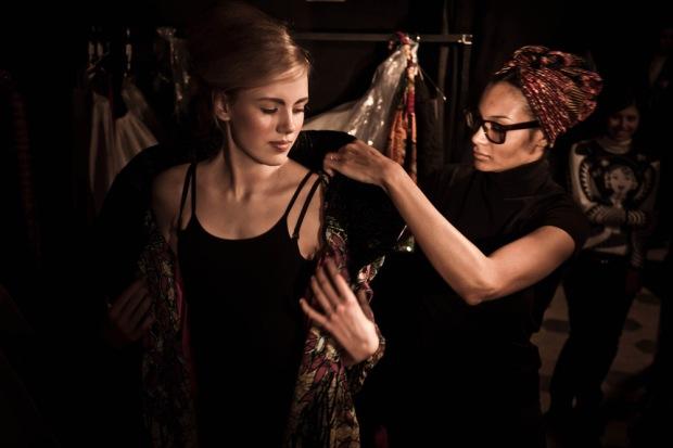 La fashion designer Stella Jean
