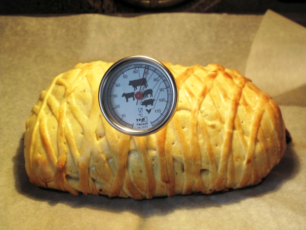 Filetto di manzo in crosta, cottura in forno